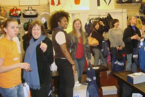 Some of the women who came to shop and hear Magdalena.