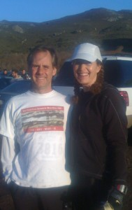 Morgan and me at the start of the Rodeo Beach run