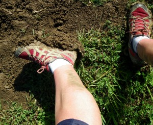 Thick, heavy mud caked on my shoes for the first 10 miles.