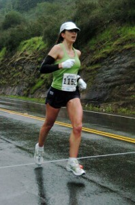 Hitting my stride in the rain during the first half.