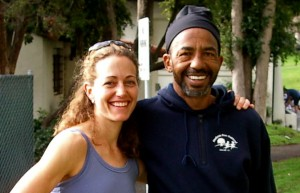 Alphonzo and me in 2004 after we ran and placed 2nd in the Lake Merritt Couples Relay (a race of male-female teams, each person doing one 5K lap around the lake).