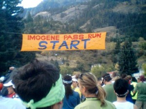 Eddie's photo of the start line. You can see me in a yellow shirt and white visor in the middle, looking a bit nervous and bewildered.