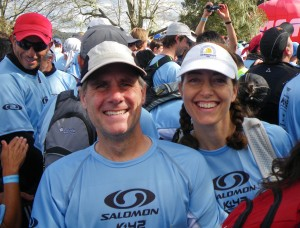 Morgan and me at the start of the Nov. 14 Salomon K42 in Villa La Angostura.