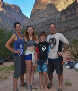 Smith family camping in Grand Canyon 2013