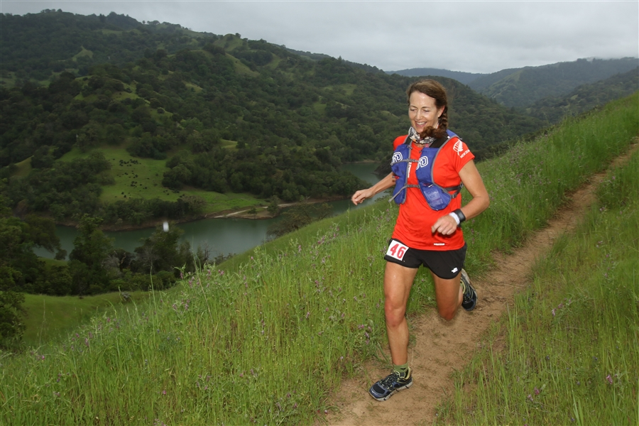 Racing in the 2016 Lake Sonoma 50-mile Ultra, during which I took nearly 30 minutes off my time from 2013.