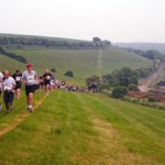 running in UK South Downs